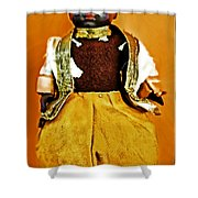 Black Amour Shower Curtain