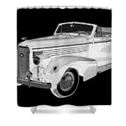 Black An White 1938 Cadillac Lasalle Pop Art Shower Curtain