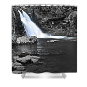 Black And Color Waterfall Shower Curtain