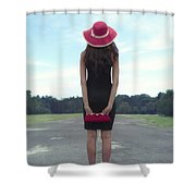 Black And Red Shower Curtain by Joana Kruse