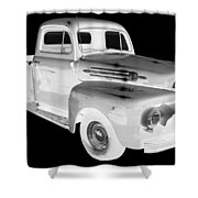 Black And White 1951 Ford F-1 Pickup Truck  Shower Curtain