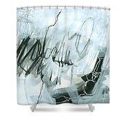 Black And White #5 Shower Curtain