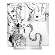 Black And White Abstract #2 Shower Curtain
