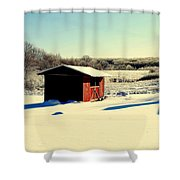 Black And White And Color Shower Curtain