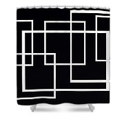 Black And White Art - 145 Shower Curtain