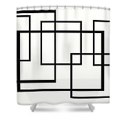 Black And White Art - 146 Shower Curtain
