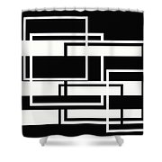 Black And White Art - 151 Shower Curtain