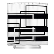 Black And White Art - 152 Shower Curtain
