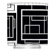 Black And White Art - 153 Shower Curtain
