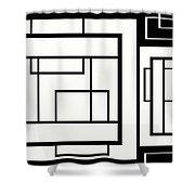 Black And White Art - 154 Shower Curtain