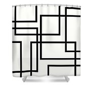 Black And White Art - 156 Shower Curtain