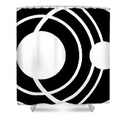 Black And White Art 170 Shower Curtain