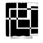 Black And White Art 172 Shower Curtain