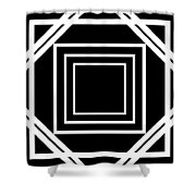Black And White Art 174 Shower Curtain