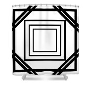 Black And White Art 175 Shower Curtain