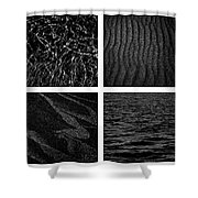 Black And White Beach Shower Curtain