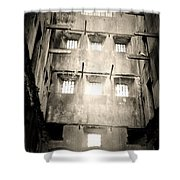 Black And White Bodmin Jail Shower Curtain