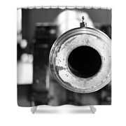 Black And White Cannon Shower Curtain