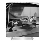 Black And White Carhop Shower Curtain
