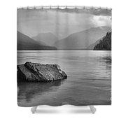 Black And White Cheakamus Lake Shower Curtain