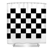 Black And White Checkered Flag Shower Curtain