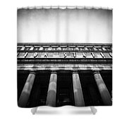 Black And White Chicago Union Station Shower Curtain