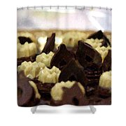 Black And White Chocolate Shower Curtain