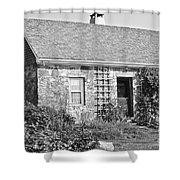 Black And White Cottage Shower Curtain