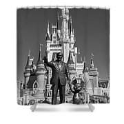 Black And White Disney And Mickey Shower Curtain