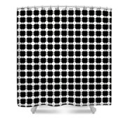Black And White Dots Shower Curtain by Daniel Hagerman