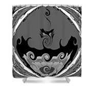 Black And White Explosion Shower Curtain