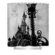 Black And White Fairy Tale Shower Curtain