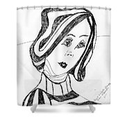 Black And White Fashion Shower Curtain
