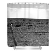 Black And White Fence  Shower Curtain