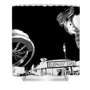 Black And White Festival Night Shower Curtain