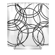 Black And White Hoops Shower Curtain