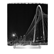 Black And White Hunt-bridge-dallas Shower Curtain