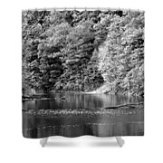 Black And White Landscape Shower Curtain
