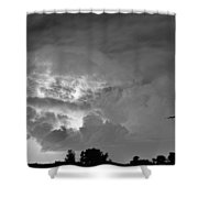 Black And White Light Show Shower Curtain