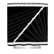 Black And White Lines Shower Curtain