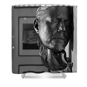 Black And White Mask Shower Curtain