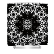 Black And White Medallion 1 Shower Curtain
