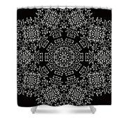 Black And White Medallion 7 Shower Curtain