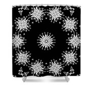 Black And White Medallion 9 Shower Curtain