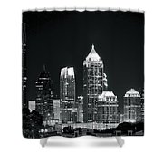 Black And White Night In Atlanta Shower Curtain