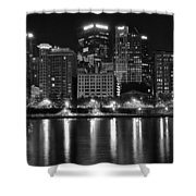 Black And White Night In Pa Shower Curtain