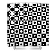 Black And White, No. 1 Shower Curtain