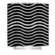 Black And White Postage Shower Curtain