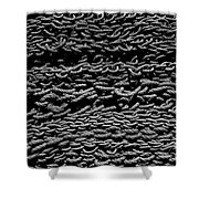 Black And White Rope Stack Shower Curtain