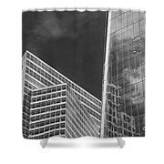 Black And White Skyscrapers Shower Curtain